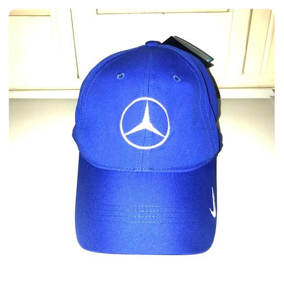 0b26c81882373 NWT Blue Mercedes Nike Golf Hat